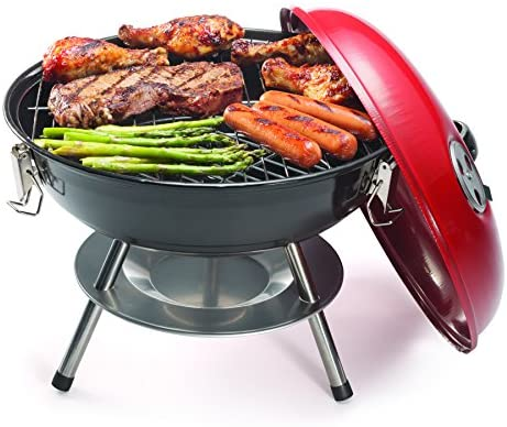 "516LeXz3O1L. AC  - Cuisinart CCG190RB Portable Charcoal Grill, 14-Inch, Red, 14.5"" x 14.5"" x 15"""