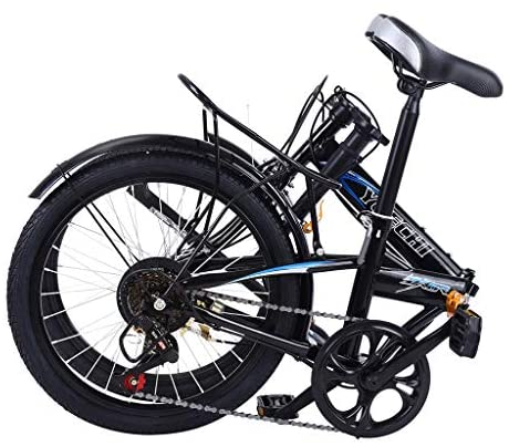 519BYgzyXTL. AC  - Leisure 20in 7 Speed ​​City Folding Mini Compact Bike Bicycle Urban Commuter with Back Rack