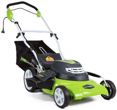 51BVSIKQtFL. AC  - Greenworks 20-Inch 3-in-1 12 Amp Electric Corded Lawn Mower 25022