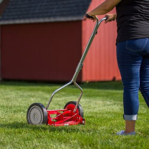 51E55y6k3pL. AC  - Great States 304-14 14-Inch 5-Blade Push Reel Lawn Mower, Red