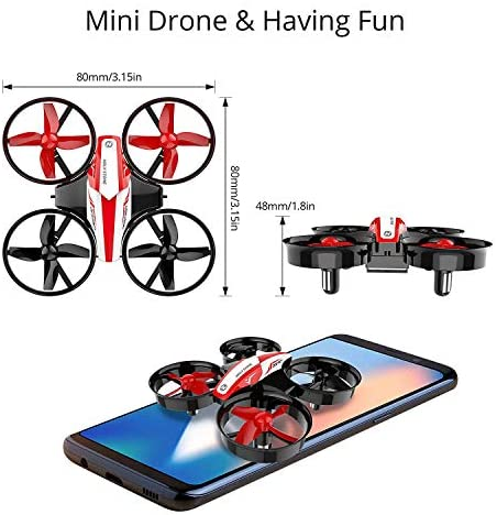 51FS679nIRL. AC  - Holy Stone HS210 Mini Drone RC Nano Quadcopter Best Drone for Kids and Beginners RC Helicopter Plane with Auto Hovering, 3D Flip, Headless Mode and Extra Batteries Toys for Boys and Girls