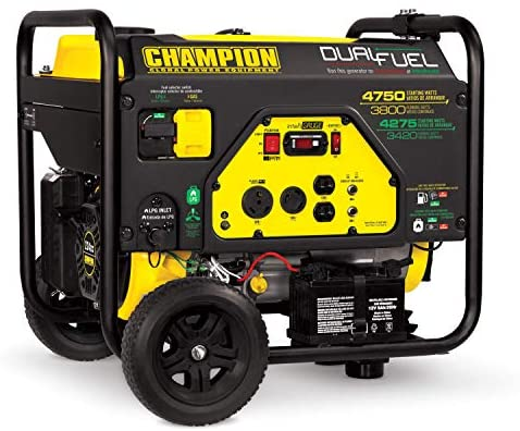 51G5QImcbcL. AC  - Champion 3800-Watt Dual Fuel RV Ready Portable Generator with Electric Start