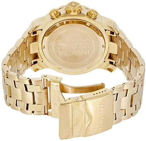 51GDDIlLZ9L. AC  - Invicta Men's 0074 pro Diver Analog Japanese Quartz 18k Gold-plated Stainless Steel Watch