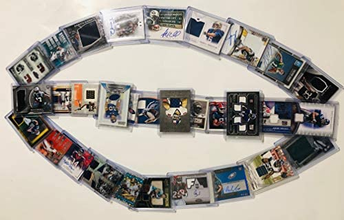 51XZQ4JEAkL. AC  - NFL Football Card Relic Game Used Jersey Autograph Hit Lot with 10 Relic Autograph or Jersey Cards Per Lot Perfect Party Favor or for NFL Collector or Fanatic Football Fan Every Lot is Unique