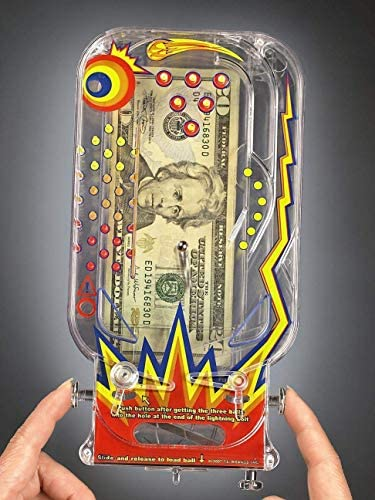 51Z87dZLK9L. AC  - BILZ Money Maze - Cosmic Pinball for Cash, Gift Cards and Tickets, Fun Reusable Game