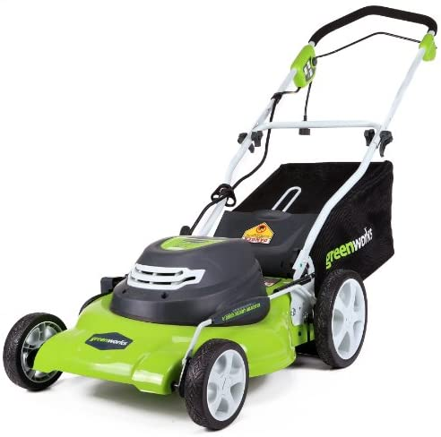 51acxmsF7AL. AC  - Greenworks 20-Inch 3-in-1 12 Amp Electric Corded Lawn Mower 25022