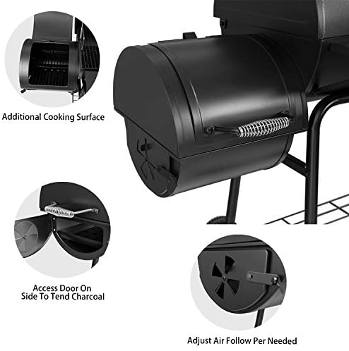 """51hPlpCF4DL. AC  - Royal Gourmet 30"""" BBQ Charcoal Grill and Offset Smoker 