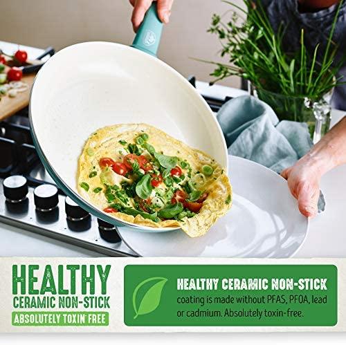 51j 42IzfkL. AC  - GreenLife Soft Grip 16pc Ceramic Non-Stick Cookware Set, Turquoise - CC001007-001