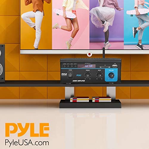 51jj+xeoSXL. AC  - Home Audio Power Amplifier System  2X40W Mini Dual Channel Sound Stereo Receiver Box w/ LED  For Amplified Speakers, CD Player, Theater via 3.5mm RCA  for Studio, Home Use  Pyle PCA2