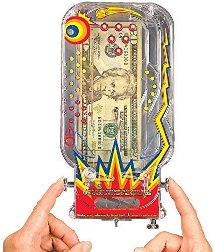 51kxNY2rZiL. AC  - BILZ Money Maze - Cosmic Pinball for Cash, Gift Cards and Tickets, Fun Reusable Game