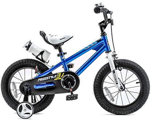 51mdrCRi55L. AC  - RoyalBaby Kids Bike Boys Girls Freestyle Bicycle 12 14 16 inch with Training Wheels,16 18 20 inch with Kickstand Child's Bike Blue Red Orange Green Pink White Fuchsia