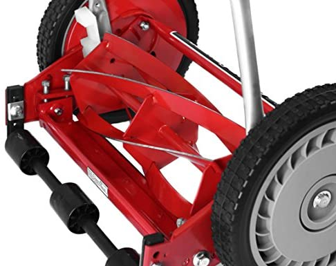 51oigaCYCZL. AC  - Great States 304-14 14-Inch 5-Blade Push Reel Lawn Mower, Red