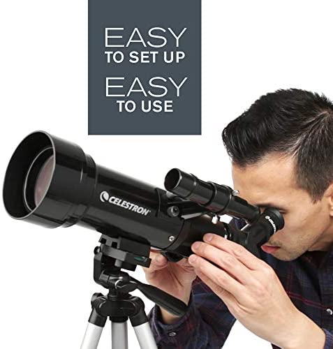 51uhROlpUuL. AC  - Celestron - 70mm Travel Scope - Portable Refractor Telescope - Fully-Coated Glass Optics - Ideal Telescope for Beginners - BONUS Astronomy Software Package