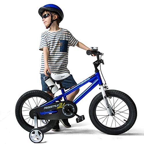 51vVV6bYJZL. AC  - RoyalBaby Kids Bike Boys Girls Freestyle Bicycle 12 14 16 inch with Training Wheels,16 18 20 inch with Kickstand Child's Bike Blue Red Orange Green Pink White Fuchsia