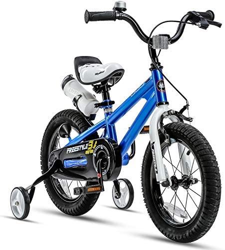 51xGA5gehuL. AC  - RoyalBaby Kids Bike Boys Girls Freestyle Bicycle 12 14 16 inch with Training Wheels,16 18 20 inch with Kickstand Child's Bike Blue Red Orange Green Pink White Fuchsia
