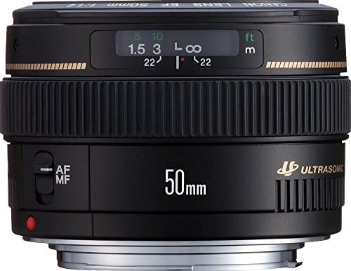 51yW1jNncPL. AC  - Canon EF 50mm f/1.4 USM Standard & Medium Telephoto Lens for Canon SLR Cameras - Fixed