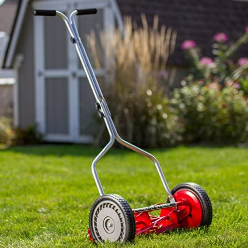 51zO83SmOCL. AC  - Great States 304-14 14-Inch 5-Blade Push Reel Lawn Mower, Red