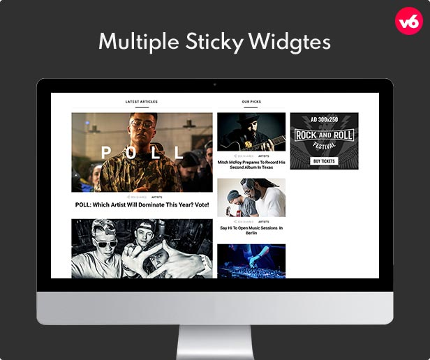6 multiple sticky widgets - Bimber - Viral Magazine WordPress Theme