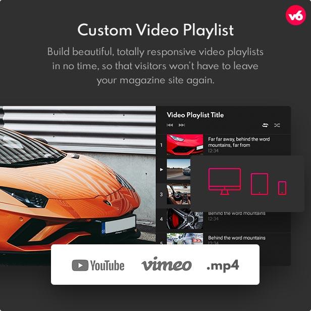 6 video playlist - Bimber - Viral Magazine WordPress Theme