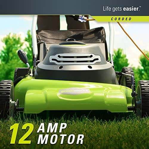 616vlG9+P0L. AC  - Greenworks 20-Inch 3-in-1 12 Amp Electric Corded Lawn Mower 25022