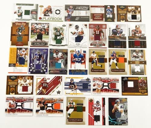 61EVeclxhWL. AC  - NFL Football Card Relic Game Used Jersey Autograph Hit Lot with 10 Relic Autograph or Jersey Cards Per Lot Perfect Party Favor or for NFL Collector or Fanatic Football Fan Every Lot is Unique