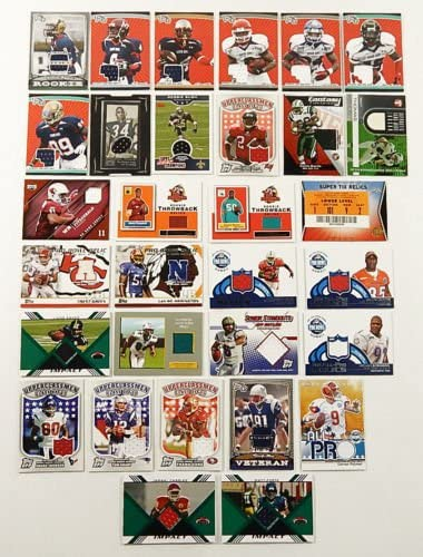 61kbTrUH37L. AC  - NFL Football Card Relic Game Used Jersey Autograph Hit Lot with 10 Relic Autograph or Jersey Cards Per Lot Perfect Party Favor or for NFL Collector or Fanatic Football Fan Every Lot is Unique