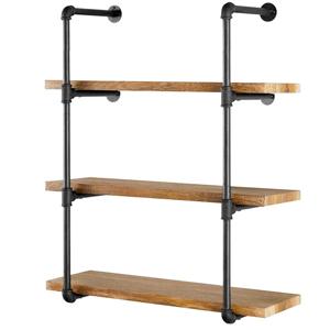 "9f5f36cc f66c 40f2 b11f 1ff0bcf75ff8. CR0,0,300,300 PT0 SX300   - Yuanshikj 2Pc (42"" Tall) (12"" deep) Industrial Wall Mount Iron Pipe Shelf Shelves Shelving Bracket Vintage Retro Black DIY Open Bookshelf DIY Storage offcie Room Kitchen (2 Pcs 4Tier Hardware Only)"