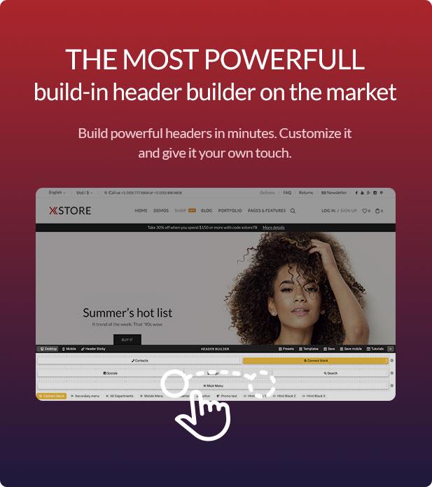 Header builder 1 - XStore | Responsive Multi-Purpose WooCommerce WordPress Theme