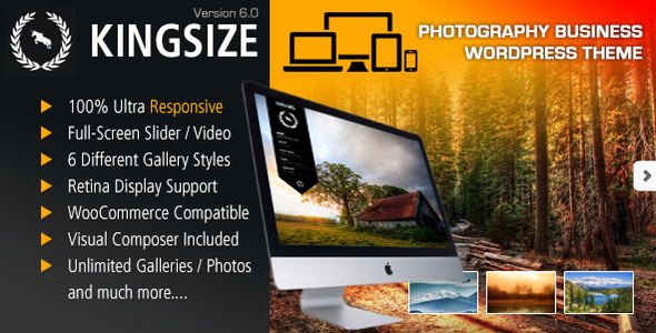 KingSize Main Photo.  large preview - KingSize Fullscreen Photography Theme
