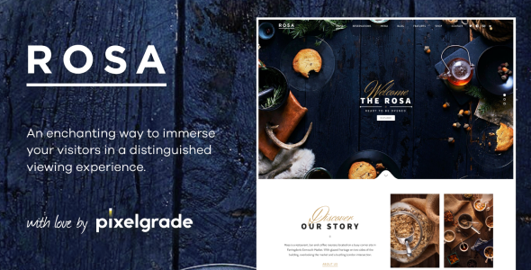 ROSA Envato small.  large preview - ROSA 1 - An Exquisite Restaurant WordPress Theme