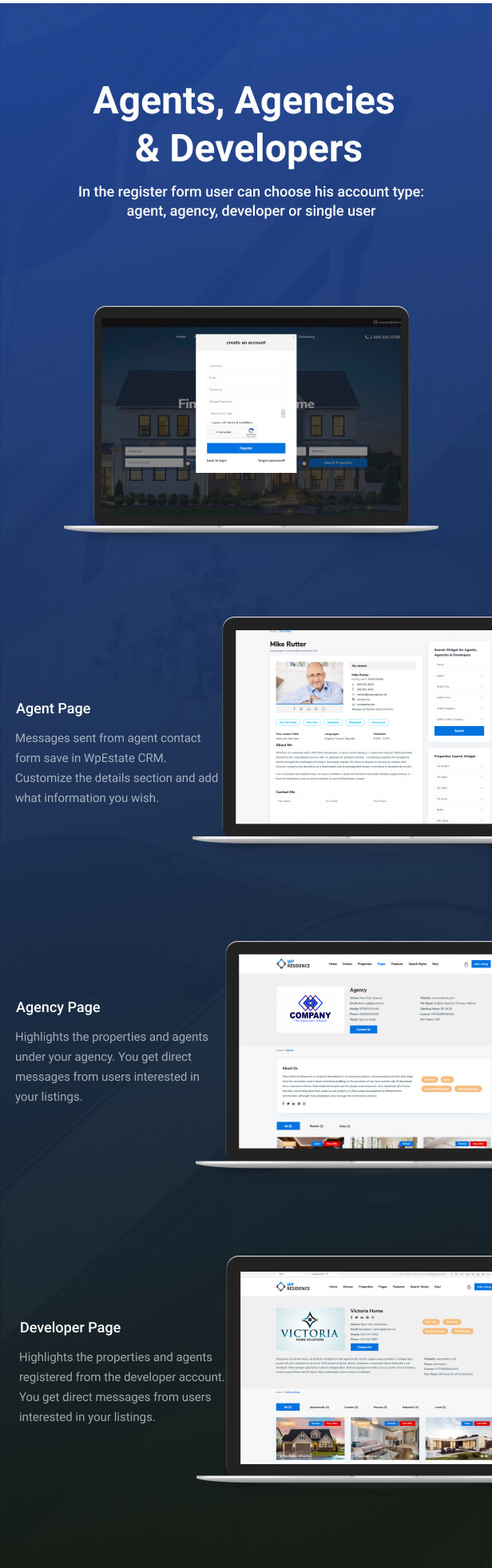 agents agencies - Residence Real Estate WordPress Theme