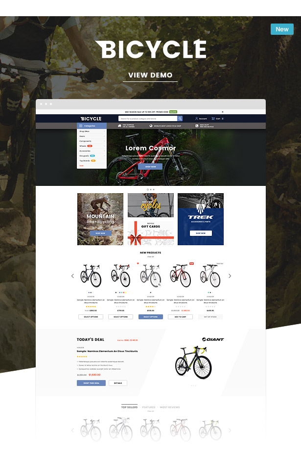 bicycle reponsive bicycle shopify template sections ready - Ella - Multipurpose Shopify Sections Theme