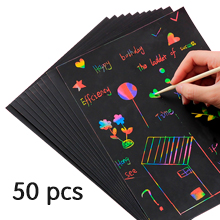 c234a685 f12b 4419 9ea7 3ee26e4f619b.  CR0,0,220,220 PT0 SX220 V1    - ZMLM Scratch Paper Art Set, 50 Piece Rainbow Magic Scratch Paper for Kids Black Scratch it Off Art Crafts Notes Boards Sheet with 5 Wooden Stylus for Easter Party Game Christmas Birthday Gift