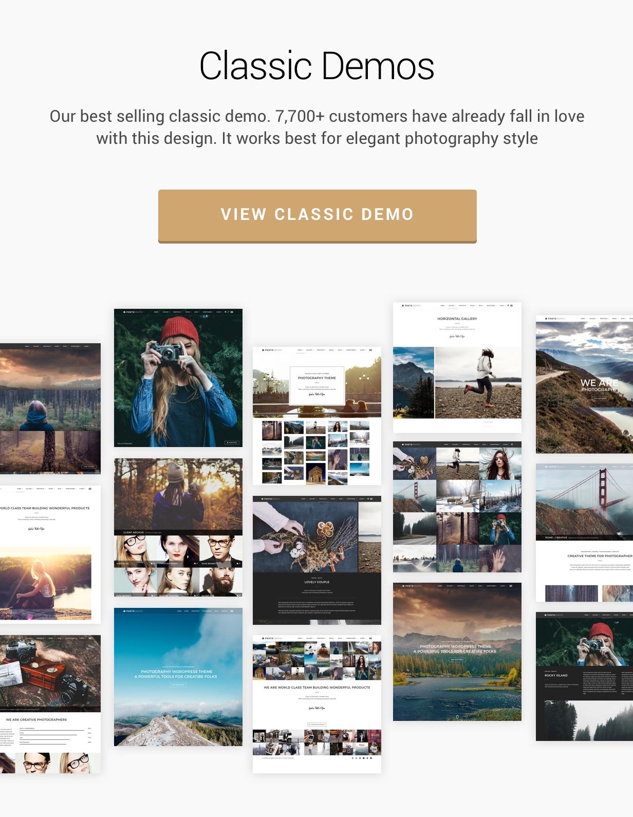 classic demos4 - Photography WordPress