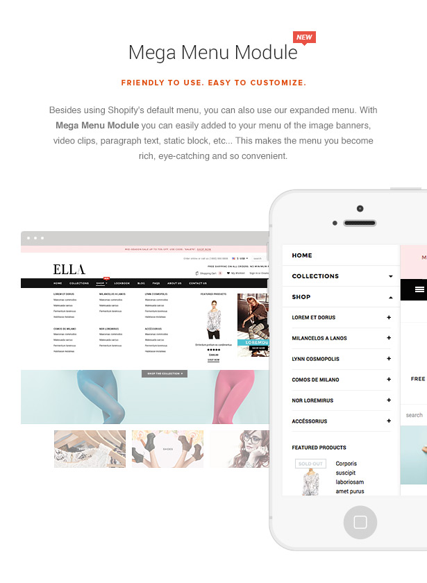 ella shopify template features 003 - Ella - Multipurpose Shopify Sections Theme