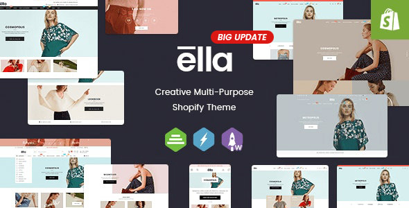 ella responsive shopify template prreview.  large preview - Ella - Multipurpose Shopify Sections Theme