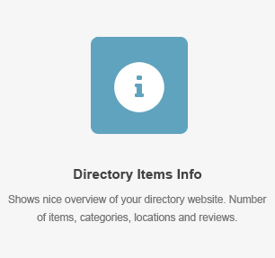 elm items info - DirectoryPRO - WordPress Directory Theme