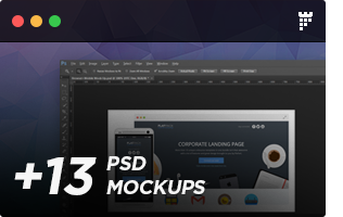 f 13psd - FLATPACK – Landing Pages Pack With Page Builder