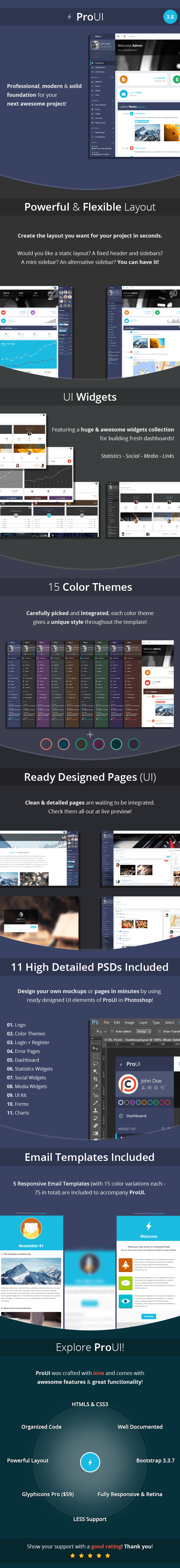 features 3.8c - ProUI - Responsive Bootstrap Admin Template
