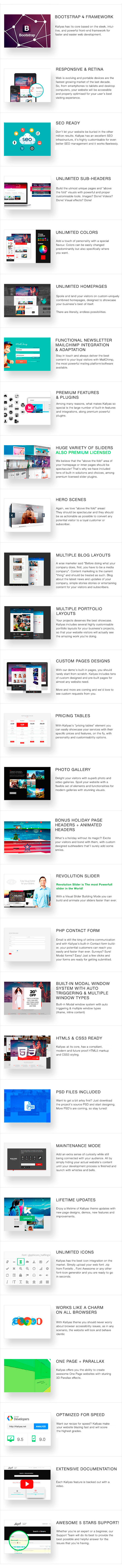 full desc - KALLYAS - Gigantic Premium Multi-Purpose HTML5 Template + Page Builder
