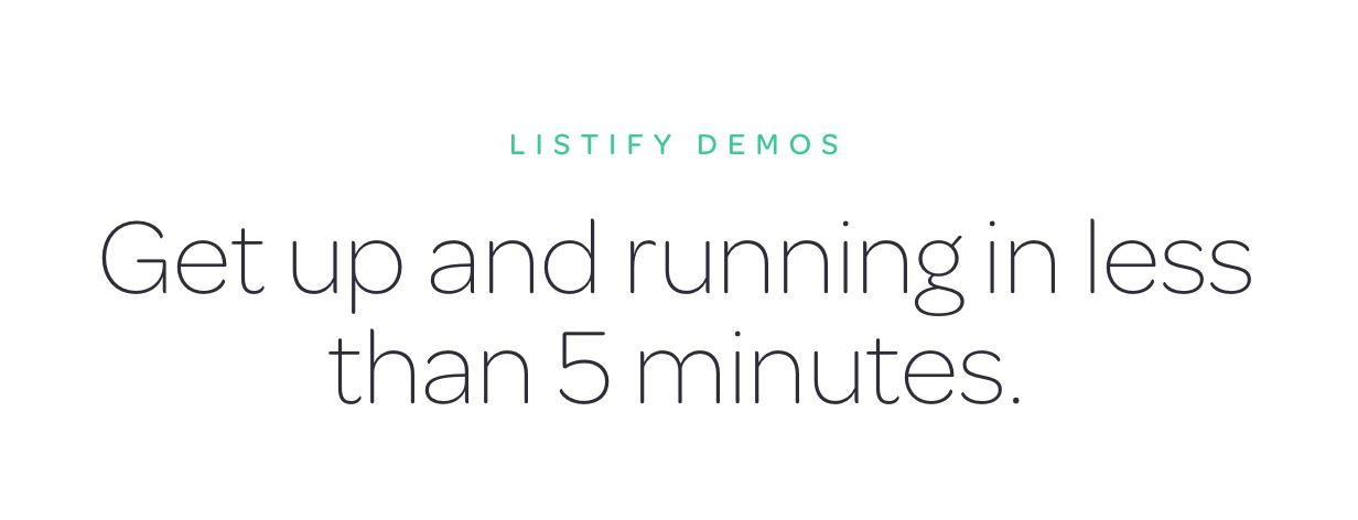 get up and running - Listify - Directory WordPress Theme