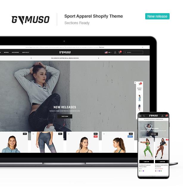 gymuso sport apparel shopify theme - Ella - Multipurpose Shopify Sections Theme