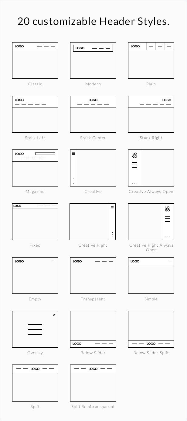 headers - BeTheme - HTML Responsive Multi-Purpose Template