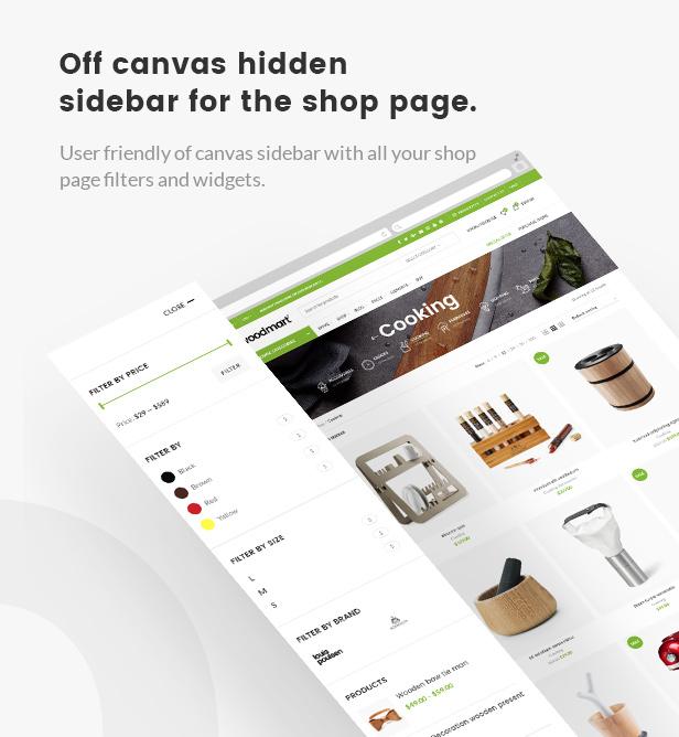 hidden sidebar - WoodMart - Responsive WooCommerce WordPress Theme