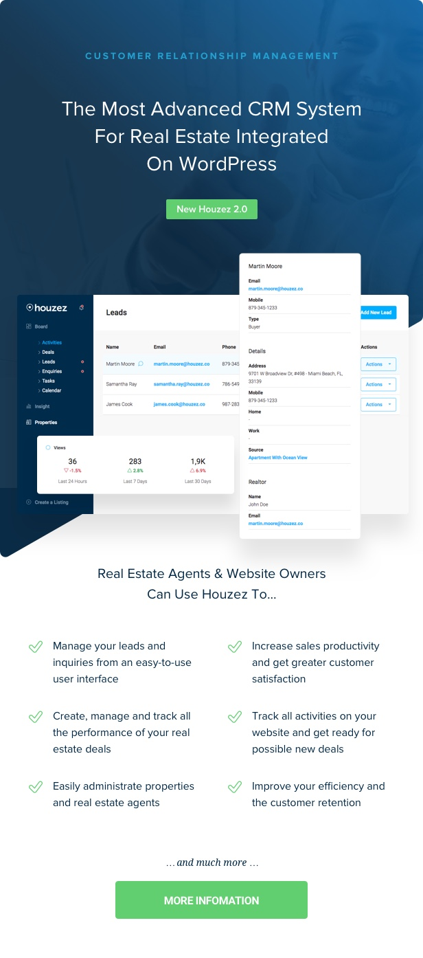 houzez 2 0 crm - Houzez - Real Estate WordPress Theme