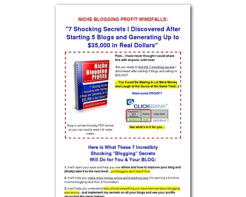 iescash x400 thumb - Niche Blogging Profits I Blog for Money (Faster)