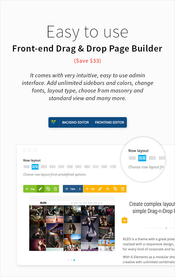 kleo features page drag and drop - KLEO - Pro Community Focused, Multi-Purpose BuddyPress Theme