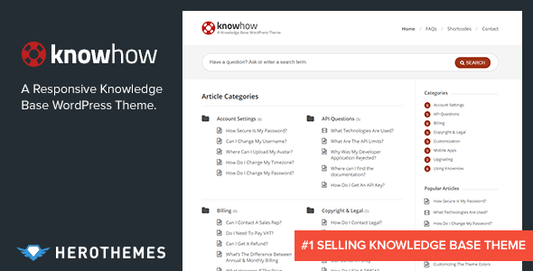 knowhow.  large preview - KnowHow - A Knowledge Base WordPress Theme