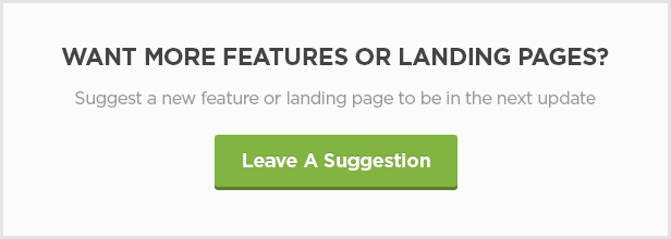 leave a suggestion - FLATPACK – Landing Pages Pack With Page Builder