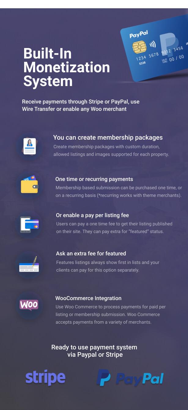 monetization - Residence Real Estate WordPress Theme